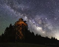 Summit Prairie Lookout Milky Way (Brook Terwilliger) Tags: brookterwilliger oregon nightphotography longexposure summit prairie lookout milkyway