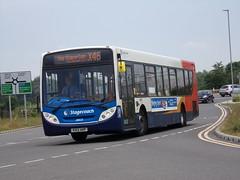 Stagecoach ADL Enviro 300 (Scania K320UB) 28633 KX12 AKP (Alex S. Transport Photography) Tags: bus outdoor road vehicle stagecoach stagecoachmidlandred stagecoachmidlands adlenviro300 enviro300 e300 scania k320ub routex46 28633 unusual kx12akp