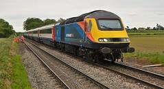 43465 43468 London St Pancras to Nottingham (DaveB aka Dave.thewhites) Tags: east goscote train rail high speed angel hst passenger 125 emt