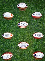 Game Balls Presented to Pat Bowlen (Sandra Leidholdt) Tags: professionalfootball gameballs footballs american denverbroncos patbowlen memorabilia sandraleidholdt denver colorado usa celebrationoflife display collection june 2019 rip nfl mrb sports