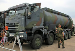 Military Tanker Truck (Schwanzus_Longus) Tags: fassberg fasberg german germany modern vehicle truck lorry tanker military army bundeswehr coe cab over engine iveco trakker