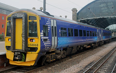 Class 158: 158868 Northern Newcastle Central (emdjt42) Tags: class158 158868 dmu newcastlecentral