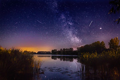 Milky Way (Lawiusz) Tags: night lake stars nightsky galaxy hdr