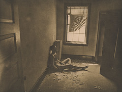 solace (///Brian Henry) Tags: abandoned darkroom analog ilford hp5 medium format decay self portrait male nude