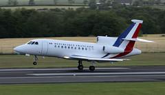 F-RAFQ (PrestwickAirportPhotography) Tags: egpk prestwick airport french air force dassault falcon 900 frafq