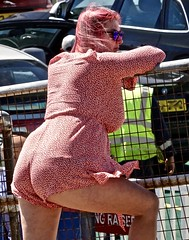 BehindtheBar (Hodd1350) Tags: poole dorset sandbanks back bars fence leaning woman female shades sunglasses redhair sony sonyrx10iv