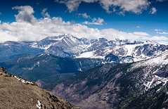 Never Ending Snow... (ragtops2000) Tags: colorado rockymountains trailridgeroad spring peaks contrast alpinelandscape blue sky colorful