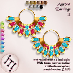!IT! - Aurora Earrings 12 Image (IT! (Indulge Temptation!)) Tags: itindulgetemptation indulgetemptation it secondlife jewelry offer accessories sl discount new
