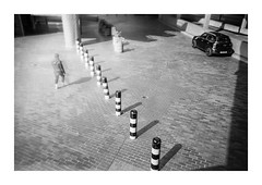 FILM - Barbican ghost (fishyfish_arcade) Tags: 35mm analogphotography bw blackwhite blackandwhite filmphotography filmisnotdead istillshootfilm ilfordxp2disposablecamera monochrome xp2 analogcamera film ilford mono streetphotography barbican london