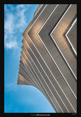 Nosey Tower (Ilan Shacham) Tags: architecture abstract lines shape form dynamic movement repetition pattern geometry fineart fineartphotography toha telaviv israel beauty