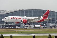 N782AV (hartlandmartin) Tags: n782av avianca boeing 787800 heathrow lhr egll aircraft airport airline aeroplane aviation plane landing nikon d7200 70300afp