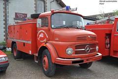 Mercedes 1113 Pompier (Monde-Auto Passion Photos) Tags: vehicule camion mercedes pompier red rouge rare rareté ancienne classique rassemblement france courtenay
