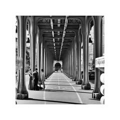 Diminish ! (CJS*64) Tags: cjs64 craigsunter cjs panasonic panasoniclx100 lx100 paris france travel travelling traveller city capital tourists blackwhite bw blackandwhite whiteblack whiteandblack mono monochrome bridge viaduct iron girders diminish diminishing