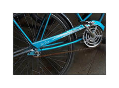jet fire (anthonyaicardi) Tags: bike blue city street chicago jetfire fuji xpro1 zuiko 38mm