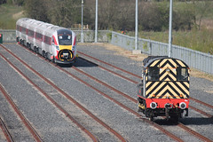 801111-08484-HI-20042019-1 (RailwayScene) Tags: class08 08484 rss railsupportservices class801 801111 lner azuma hitachi aycliffe merchantpark