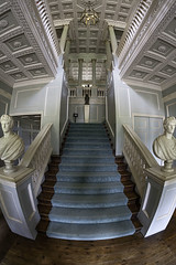The Vyne Staircase (Terrycym) Tags: hampshire nationaltrust thevyne fisheye ef815mmf4lfisheyeusm canoneos5dmarkiii amysteriousplacewithnoname linescurves