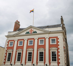 York Mansion House, June 2019 (nican45) Tags: flag coatofarms mirrorless fujifilm mansionhouse xt2 sthelenssquare yorkpride june yorkshire colours architecture 1024 wideangle 2019 york 09062019 1024mm 9june2019 csc fuji fujinon pride sthelens xf1024mmf4rois england unitedkingdom