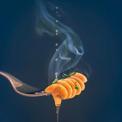 Fusilli (Ro Cafe) Tags: black mm macro macromondays stylingfoodonafork food fork fusilli oil pasta steam nikkor105mmf28 sonya7iii