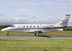 NetJets Cessna 560XL Citation CS-DXP (birrlad) Tags: dublin dub international airport ireland aircraft aviation airplane airplanes arrival arriving finals landing landed runway bizjet private passenger jet netjets csdxp cessna 560xl citation xls c56x fraction