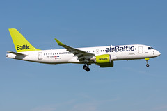 YL-AAO Air Baltic Airbus A220-300 (CSeries CS300) (buchroeder.paul) Tags: eham ams amsterdam schiphol the netherlands europe final ylaao air baltic airbus a220300 cseries cs300