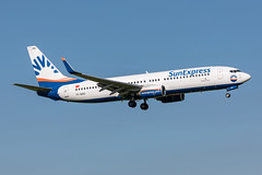 TC-SOO SunExpress Boeing 737-8AS (buchroeder.paul) Tags: eham ams amsterdam schiphol the netherlands europe final tcsoo sunexpress boeing 7378as