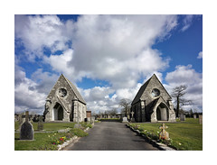 TWIN CHAPELS OF ST COLUMB MAJOR CEMETERY (Barry Haines) Tags: st columb major twin chapels cemetry cornwall cemetery 21mm loxia distagon sony a7r2 a7rii flickrsbest