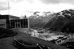 At the end of the skylift (g@schei) Tags: canon eos5d 5dmarkii travel loen sognogfjordane norge norway bw