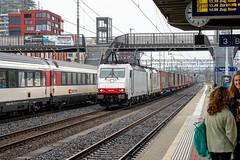 The white ones - Crossrail (jaeschol) Tags: br186 br186906 bombardier eisenbahn elektrischelokomotive europa europe kontinent lokomotive railpool schweiz suisse switzerland transport chemindefer railroad railway