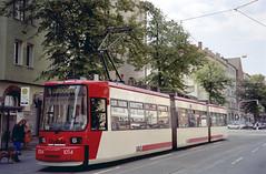 1998-09-20 Nürnberg Tramway Nr.1014 (beranekp) Tags: germany deutschland nürnberg tramvaj tram tramway tranvia šalina strassenbahn elektrika električka 1014