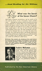 Signet Books 783 - Frederic Wakeman - The Saxon Charm (back) (swallace99) Tags: signet vintage 50s paperback martinis