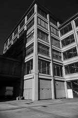 Stark Building (Monochrome) (John of Witney) Tags: buildings architecture stark sun monochrome blackandwhite fiat lingotto turin torino italy italia lacittàmetropolitanaditorinovistadavoi