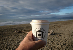 Coffee on the Beach (johnstewartnz) Tags: coffee northbeach newbrighton northbeachcoffeeshed beach sky clouds sand sea canon canonapsc apsc eos 100canon 7dmarkii 7d2 7d canon7dmarkii canoneos7dmkii canoneos7dmarkii 2470 2470mm ef2470mmf4l canonef2470f40l