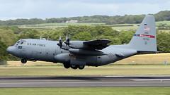 94-6705 (PrestwickAirportPhotography) Tags: egpk prestwick airport usaf united states air force lockheed c130h hercules 946705 georgia national guard
