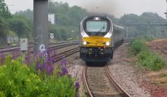Adding a splash of colour (The Walsall Spotter) Tags: chilternrailways class68 68013 smallheath railway station diesel locomotive britishrailways networkrail