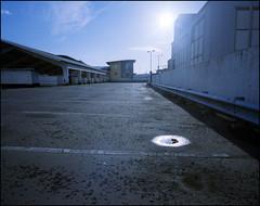 roof (generalzorn) Tags: mamiya7ii kodakportra400 50mm coventry film city urban concrete citycentre