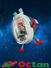 Octan Hoppa (David Roberts 01341) Tags: lego space spaceship pod octanenergy minifigure spaceman toy small
