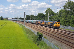66741+66731 Winwick 22nd June 2019 (John Eyres) Tags: 6674166731 up slow winwick quay with 6e17 liverpool biomass terminal drax 220619