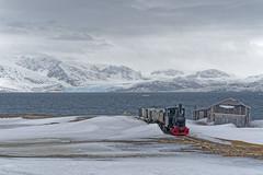 Last Station before the North Pole (Kadu Flyer) Tags: nyålesund spitsbergen svalbard train coal norway arctic mountains sky clouds sea snow glacier ice nyalesund railway