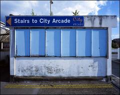 city arcade (generalzorn) Tags: mamiya7ii kodakportra400 50mm coventry film city urban concrete citycentre