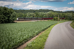 Homeward Bound (marko138) Tags: emd funit f9a leshville ns271 newport norfolksouthern ocs pitl pt128 pennsylvania pittsburghline summer farm farmland locomotive mainline perrycounty railfan railroad railroadphotography train