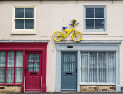 On the tour (daveseargeant) Tags: yellow bike tour defrance north yorkshire whitby seaside sea coast street nikon df 18g house door window