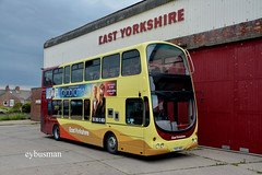 Go Ahead East Yorkshire 717, YX07HKD. (EYBusman) Tags: go ahead north east yorkshire bus coach eyms hull hornsea depot cliff road wright eclipse gemini new livery volvo b7tl eybusman yx07hkd