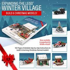 Expanding the LEGO Winter Village Book (BrickMonster) Tags: lego legomoc christmas legobook book kindle instructions moc wintervillage legowintervillage