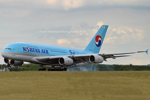 Korean Air HL7614 Airbus A380-861 cn/068 @ LFPG / CDG 15-06-2019