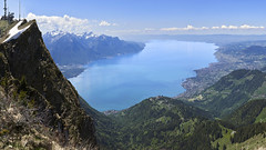 A view of Lake Léman from the Rochers de Naye (Karl Le Gros) Tags: lebeaupaysdevaud xaviervonerlach 2019 panorama hugin