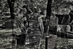 The Phantom Mourners (Mr_Pudd) Tags: souls lostsouls phantom doubleexposure funeralparty funeral graves grave nikond750 nikon mourning mourners ghost apparition cemetery edgertoncemetery edgerton huddersfield