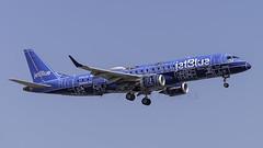 N304JB_JFK_Landing_22L_Blue_Print (MAB757200) Tags: jetblueairways erj190 n304jb aircraft airplane airlines airport jetliner jfk kjfk embraer landing runway22l logojet