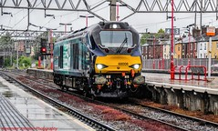 68008 @ Stafford (A J transport) Tags: class68 68008 diesel drs locomotive uklight railway wcml trains avenger compasslogo lightengine
