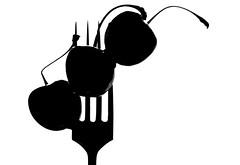 Macro Mondays - Styling Food on a Fork (DeZ - photolores) Tags: blackandwhite bw macro design nikon highcontrast hdr bnw dez tamron90mmf28 macromondays nikond610 stylingfoodonafork