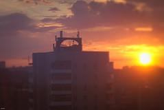 Архитектурный закат / Architectural sunset (Ebola Noses) Tags: архитектура architecture закат sunset vaporwave ностальгия nostalgia ссср theussr ussr past прошлое хрущевка khruschovka россия russia panasonic lumixgf3 lumix helios44m